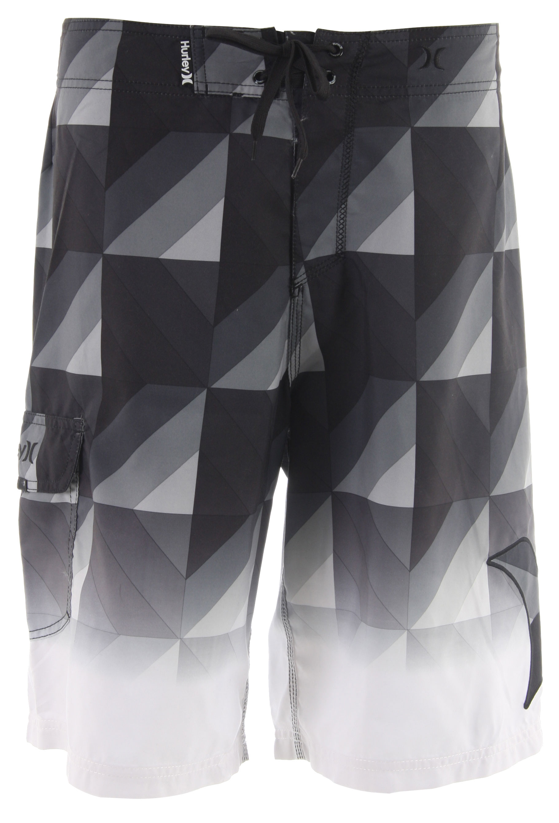 Surf Key Features of the Hurley Dissolve Boardshorts Black: 22 inch outseam Recycled supersuede Patented EZ fly closure embroidered logo icon pocket drainhole - $48.95