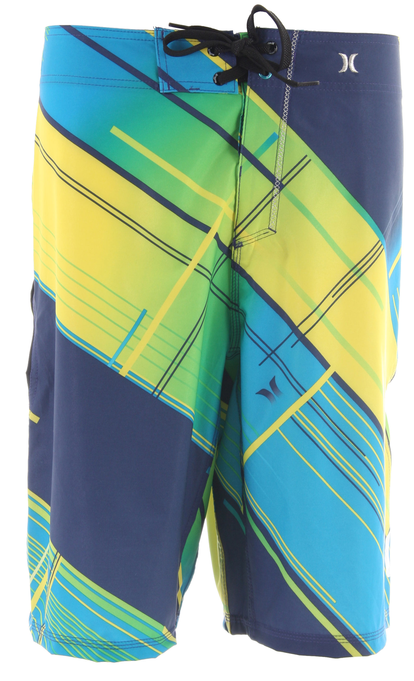 Surf Key Features of the Hurley Phantom 60 Static Boardshorts: True Performance Fit Recycled Phantom 60% stretch Seasonal print patented EZ fly closure signature foil branding metallic embroidery blocked yoke paneling performance water repellency - $39.95