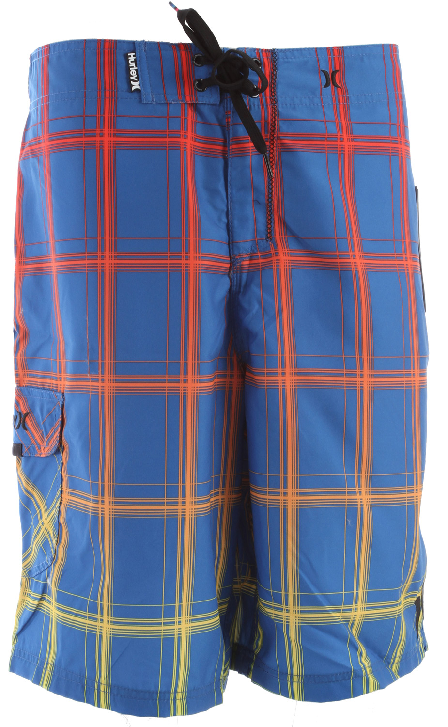 "Surf Key Features of the Hurley Puerto Rico Blend Boardshorts: 22"" Outseam Recycled Supersuede Patented EZ fly closure, embroidered logos, patch pocket with Velcro flap. - $36.95"