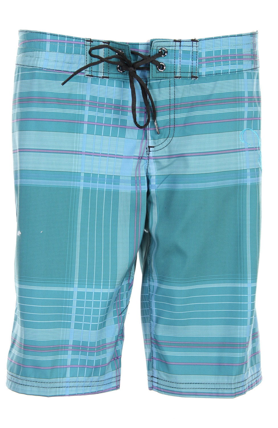 "Surf Effortless style just seems to flow from the Liquid Force line - like the Liquid Force Switchstyle Boardshorts for women. Fabricated in lightweight, ultra-soft sublimated megasuede, Switchstyle shorts in bright pastel plaids measure 11"" at the inseam. Fly and drawstring combo provide a secure fit; tilted velcro back pocket embroidered with the Liquid Force logo and coordinating embroidered scroll trim on the side give the Switchstyle a dash of panache. With style like this, why would you ever switch Key Features of The Liquid Force Switchstyle Women's Boardshorts:  11"" Inseam  Sublimated Megasuede  Nylon Fly Front with Tie  Back Pocket with Velcro Closure - $18.95"