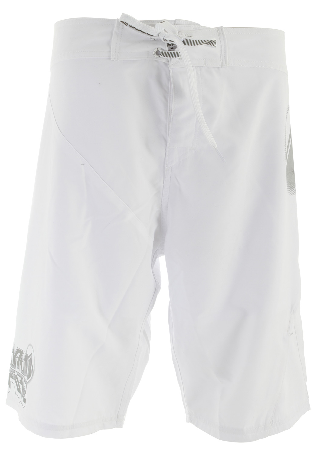 "Surf Key Features of the Liquid Force White House Boardshorts: Quick Drying 4-way Liquid Stretch 21"" Outseam Velcro Tab with Lycra Fly Quick Drying Coating No Slip Print string tie White color way has inside liner - $48.95"