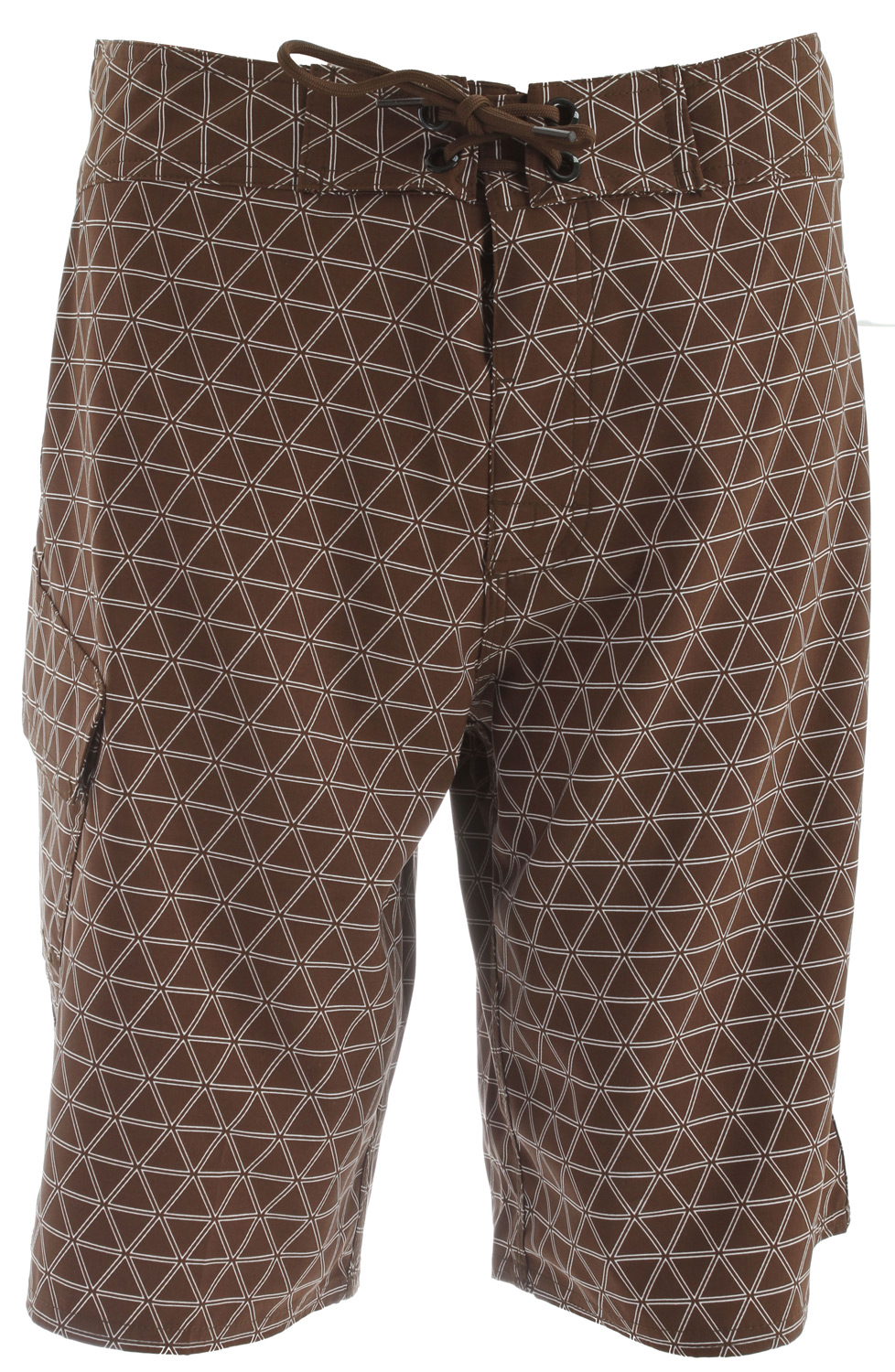 Surf Key Features of the The North Face Class V Stretch Printed Boardshorts: Fabric: 176 g/m2 100% polyester with mechanical stretch Lightweight, quick-drying, abrasion resistant Ultraviolet protection factor (UPF) 50 Boardshort waist tie with fly gusset Side utility pocket - $32.95
