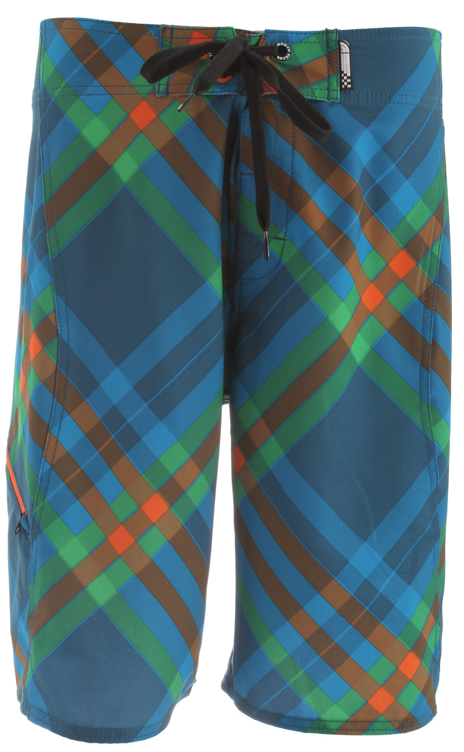 Surf A Superstretch boardshort with a zip cargo stowpocket designed for serious tube time.  Fabric: 135 g/m2   53% recycled polyester, 37% polyester, 10% elastane plaid print with DWR   Ultraviolet protection factor (UPF  50   Center front drawcord closure with stretch fly gusset   Anti-chlorine 5 ppm   Anti-UV   QuickDry   Zip cargo stowpocket   Double needle reinforcement stitching on seams - $44.95