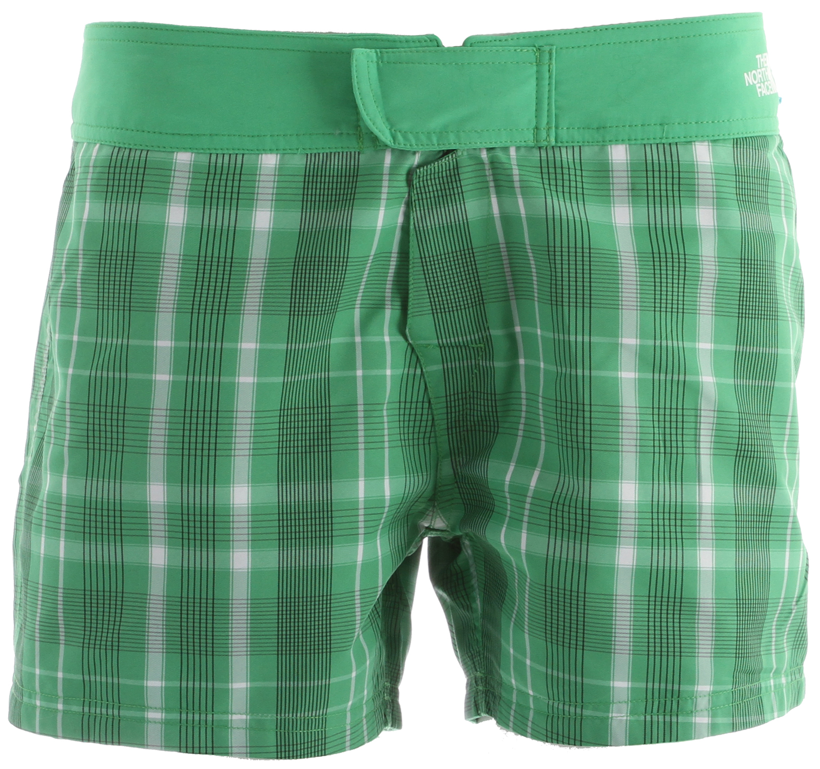 Surf The North Face Reversible Trunk Shorts Mojito Green Plaid - $34.95