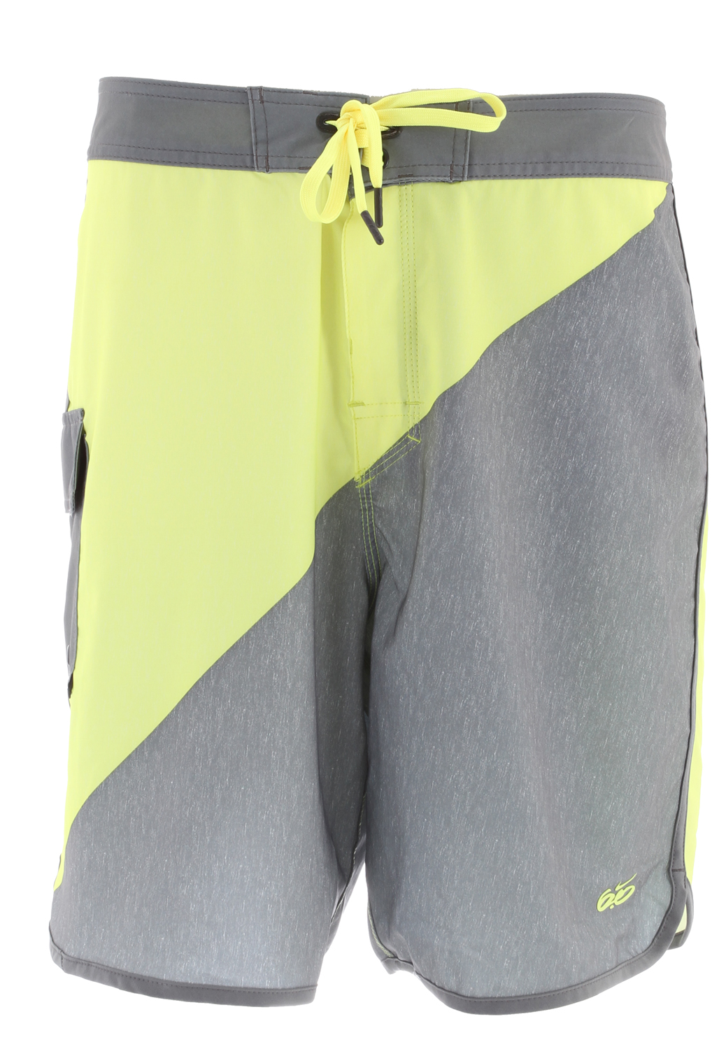 Skateboard Made with stretch fabric for excellent mobility, the Nike 6.0 Gym Print Men's Boardshorts deliver comfort in and out of the water. Bold color contrast lends these shorts a sharp look that stands out.Key Features of the Nike 6.0 Gym Boardshorts: Lace-up closure at waist for an adjustable fit Side flap pocket for secure storage Color-block pattern for style Logo screen print at left hem Fabric: 85% recycled polyester/15% spandex Machine wash - $65.95