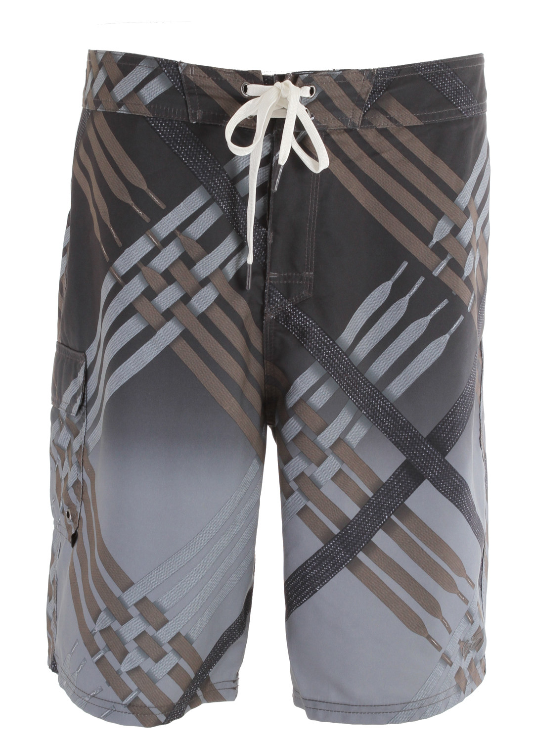 Surf Primed for any adventure on the board or on the beach, the Nike Scout Photo Men's Cargo Board Shorts are durable, quick-drying and feature true-to-life graphics.Key Features of the Nike Scout Boardshorts: Lace-up closure with rib-lined fly for an adjustable fit Patch pockets with vented eyelets and VELCRO brand fastener for secure storage Allover graphic Fabric: 100% recycled polyester Machine wash - $38.95