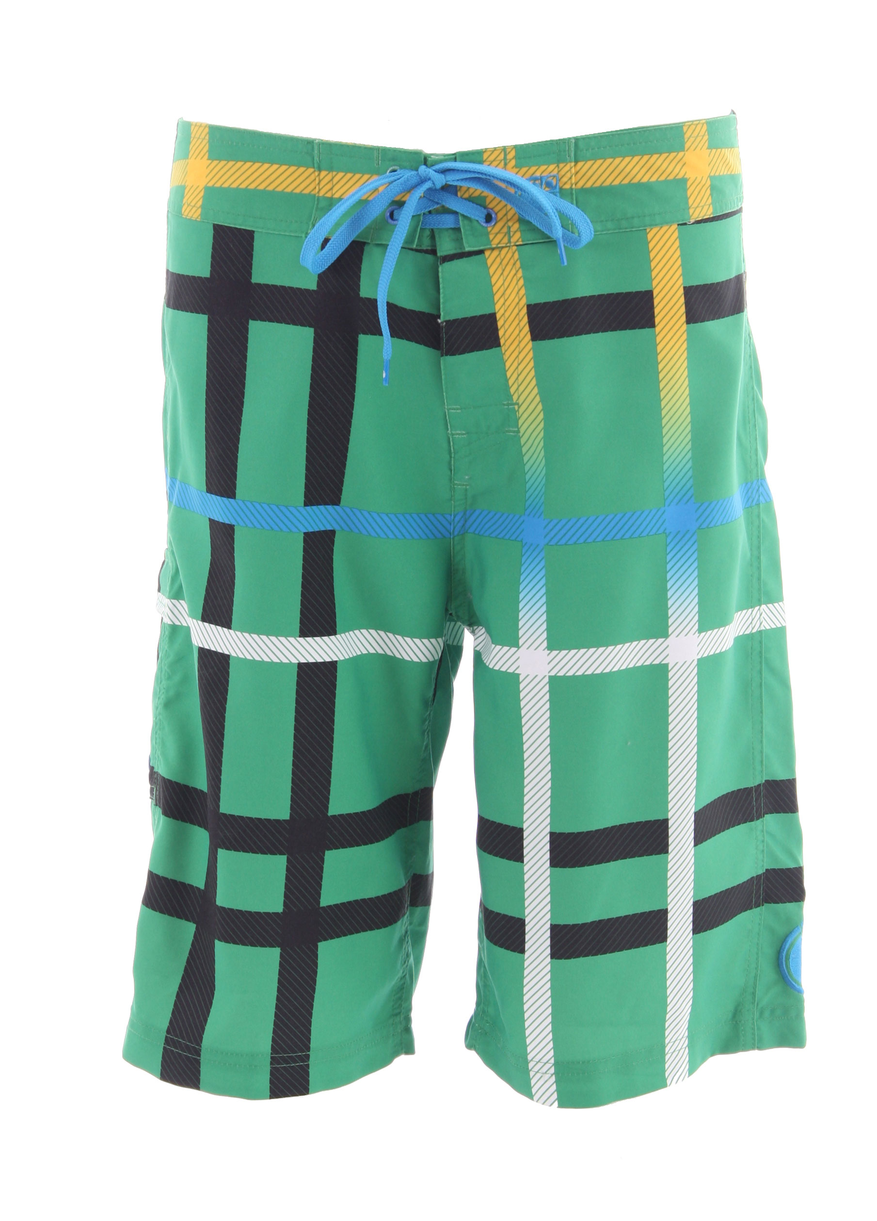 Surf Classic poppy plaid in the Nomis OG Fade Boardshort will get you noticed whether you're surfing, wake skating, or chillin' on the beach. 100% Poly. - $31.95