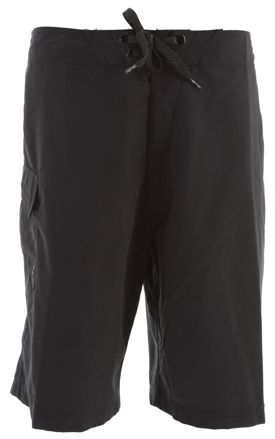 "Surf 2 way stretch solid boardshort with logo embroidery, new stretch fly, hook and loop side pocket and drawstring closure system.Key Features of the Oakley Classic Boardshorts: 100% polyester 22"" Outseam - $40.00"