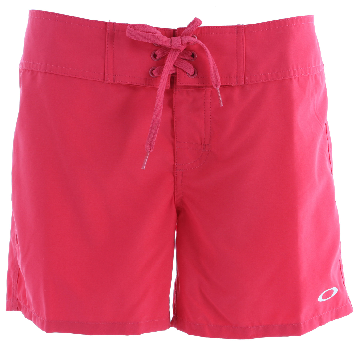 "Surf 5"" solid microsuede boardshort with stretch fly, front draw cord tie, heat transfer logo at bottom front leg hem and water repellent propertiesKey Features of the Oakley Rowdy Boardshorts: 100% polyester Free fit - $24.95"