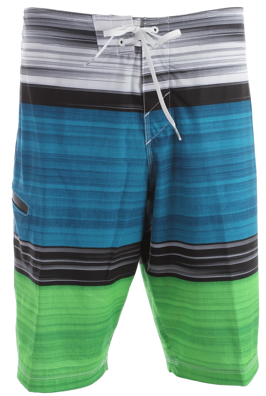 "Surf O'Neill Hyperfreak Bonus Boardshorts are made from Hyperfreak stretch fabric which is extremely flexible and allows a great range of motion.  The blend is 78% Polyester and 22% elastane and uses quick drying technology.  Features include no inseam construction for reduced chafing, front tie closure with superfly, zippered, welded pocket at right leg, machine wash and tumble dry.  The O'Neill Hyperfreak Bonus Boardshort will make you look good on or off your board!Key Features of the O'Neill Hyperfreak Bonus Boardshorts:  Hyperfreak stretch  21"" Outseam Boardshorts  Superfly Closure  Locking Drawcord  Ultrasonically welded inseam  Welded pocket  Screened Logos - $51.95"