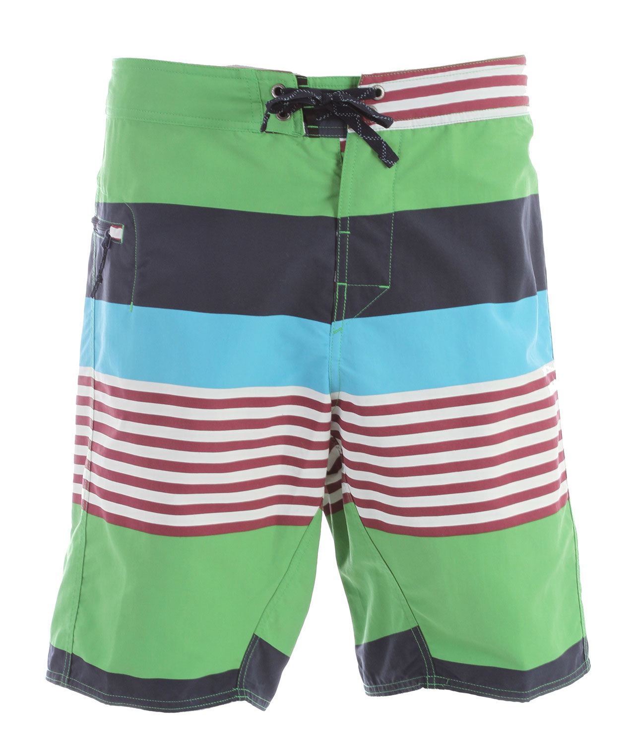 "Surf Tried and true, live-in-them board shorts made of Supplex nylon with a DWR (durable water repellent) finish; 21? outseam. FABRIC: 4.3-oz 100% Supplex nylon with a DWR finishKey Features of the Patagonia Wavefarer 21In Boardshorts: Regular fit Made of a durable and quick-drying Supplex nylon fabric, with a DWR finish 3-piece-self-lined waistband contours to hip; flat-lying fly with single rubber button; functional mesh gasket easily drains; ladder-lock drawstring closure; turned, bartacked drawstring is durable and adds security Self-draining pocket on right thigh has a non-corrosive, recyclable plastic zipper, internal key loop and added zipper pull for ease of use Forward inseam at crotch eliminates skin chafe 21"" outseam - $41.95"
