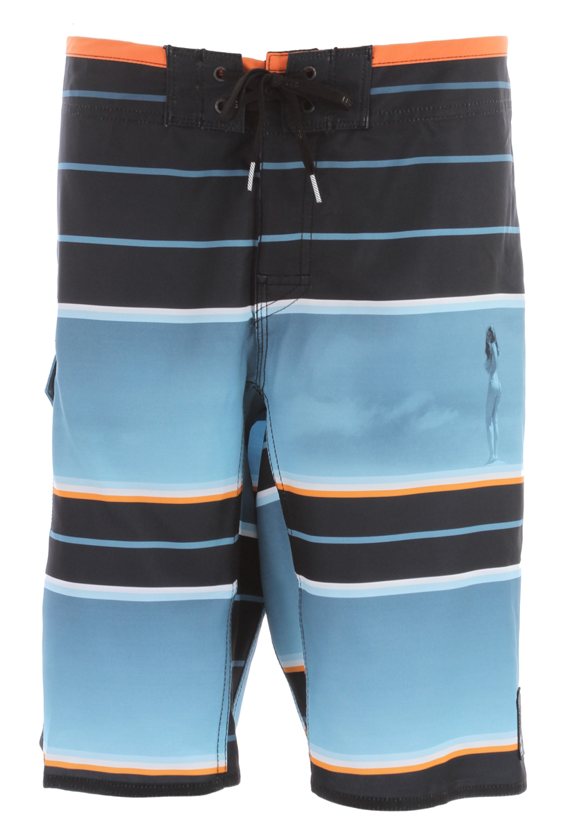 "Surf Key Features of the Reef Good Lines Boardshorts: 4 way mechanical stretch fabric No side seam with contrast binding on top of waistband Collectors edition patch 21"" outseam Standard fit Tie front 100% polyester - $41.95"