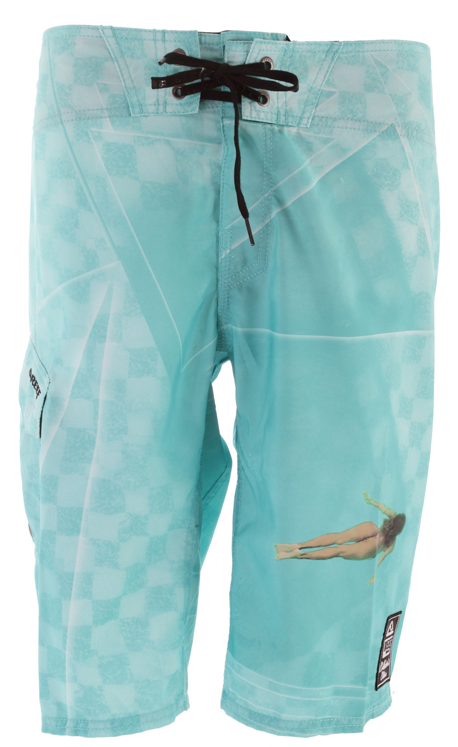 "Surf Key Features of the Reef Miss Checked Dreams Boardshorts: Pro-am microfiber 100% polyester Collectors edition woven patch on left leg 22"" outseam - $56.00"