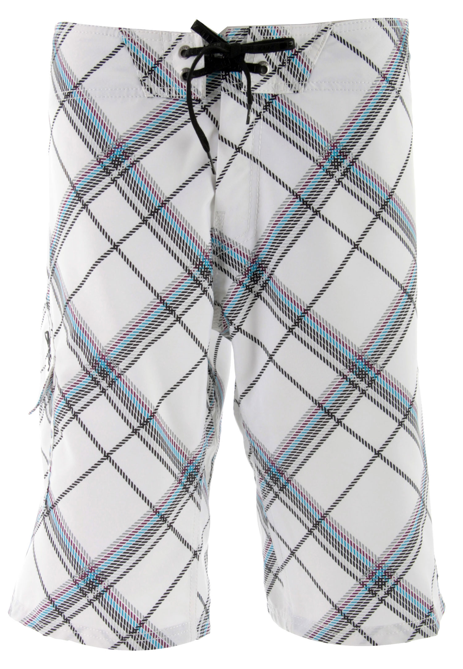 "Surf These new boardshorts from Reef Pier have the perfect length and fit to keep you moving with no constraints. The solid polyester fabric stretches and allows movement in both directions. The bias-design plaid print is attractive and the detailing on this items really makes it a standout. A drawstring waistband that is cleverly designed for maximum comfort, reinforced stitching, and custom eyelets and logo embroider makes these shorts the one's you'll be enjoying for many seasons to come.Key Features of the Reef Pier Boardshorts: 2 Way Pro Stretch Fabric 100% Polyester All Over Plaid Print Ridiculously Comfortable Inside Waistband Detail Woven Label On Left Leg Embroidery On Right Pocket Flap Custom Logo Eyelets 22"" Outseam - $51.95"