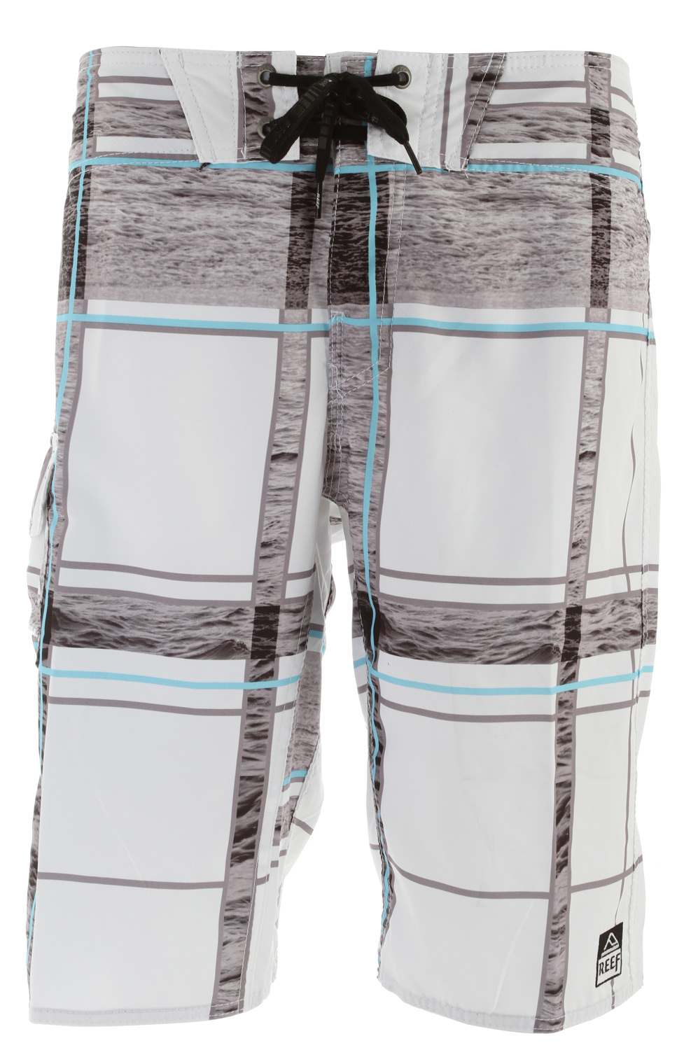 "Surf Key Features of the Reef Salt Ponds Boardshorts: 4 way mechanical stretch fabric 100% polyester 22"" outseam - $45.95"
