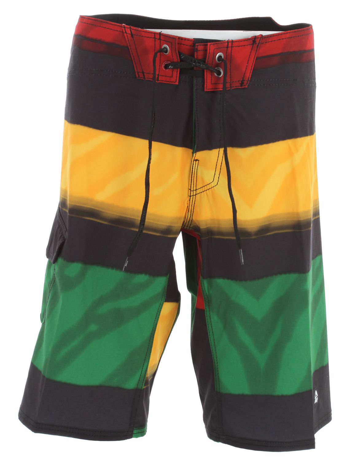 "Surf Key Features of the Reef Stripe Conflict Boardshorts: 4 way elite stretch fabric 85/15 polyester / spandex 22"" outseam - $47.95"