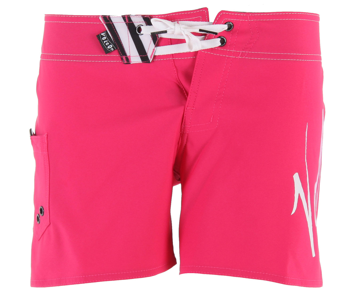 "Fitness Hey ladies, lets kick the summer with the perfect outfit. The Volcom Stream Lines 5"" Boardie Boardshorts is the pair of boardshorts to rock along the sand-filled beach this summer. Made with polyester and a bit of elastane, these shorts offer softness with the right amount of stretch, perfect for running around in. Wear it with your summer tank top or your favorite bikini and you're set. Stay active, stylish and super comfortable with the Volcom Stream Lines 5"" Boardie Boardshorts.Key Features of the Volcom Stream Lines 5"" Boardie Boardshorts: 85% Polyester/15% Elastane 4-Way Stretch. Solid Or Print 5"" Inseam Boardshort Comes In 4-Way Stretch. Volcom Print Or Embroidery At Wearer's Left Leg. No Outseam And Cinch Fly Technology. - $28.95"