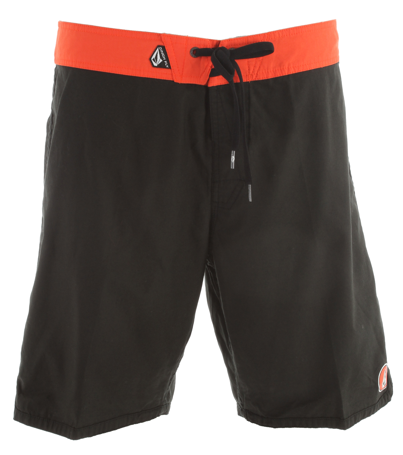 "Surf Key Features of the Volcom Dredge Boardshorts: 18"" outseam boardshort Inseam, scallop body Contrast waitband, contast back pocket and taping Cinch Fly Technology 52% Nylon/48% Cotton - $36.95"