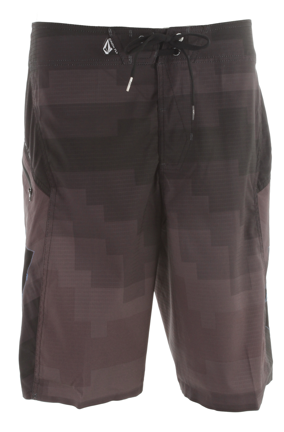 "Surf If its bells and whistles you want, the V6S Pixelater will blow your mind. Our most resilient boardshort yet with 6 Way stretch and ultra light 2-Way Grid Dry that actually repels water. Even better, these bad boys have no inseam. So you can expect smoother-than-smooth comfort even during marathon sessions. Includes a zip pockets and Cinch Fly Technology. 21"" outseam. 93% polyester/7% elastane 2 Way Stretch Grid-Dry - $40.95"