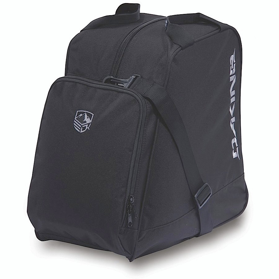 "Ski Key Features of the Dakine Boot Bag 30L Bag: Fits ski or snowboard boots zippered accessory pocket adjustable shoulder strap 1800 cu. in. [ 30L ] 15 x 14 x 9"" [ 38 x 36 x 23cm ] 1.5 lbs. [ .7kg ] 600D Polyester - $40.00"