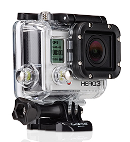 Surf The Wi-Fi enabled HERO3: Black Edition is the most advanced GoPro, ever. No expense was spared during its development, resulting in a GoPro that is 30% smaller, 25% lighter and 2x more powerful than previous models. Wearable and gear mountable, waterproof to 197' (60m), capable of capturing ultra-wide 1440p 48fps, 1080p 60 fps and 720p 120 fps video and 12MP photos at a rate of 30 photos per second, the HERO3: Black Edition is the world's most versatile camera. Built-in Wi-Fi, GoPro App compatibility and the included Wi-Fi Remote (normally a separate $79.99 accessory) make the HERO3: Black Edition all the more versatile, still.Key Features of the GoPro HD Hero3 Surf Edition Camera: Wearable, mountable design Immersive, wide angle capture of your favorite activities Professional quality HD video & 12MP photos Built-in Wi-Fi enables remote control via included Wi-Fi Remote or live video preview and remote control on smartphones and tablets running the free GoPro app. Rugged housing is waterproof to 197'/60M and captures sharp images above and below water Compatible with all GoPro mounts for attaching to gear, body, helmets, vehicles and more Compatible with LCD Touch BacPac and second generation Battery BacPac Backwards compatible with older generation BacPacs New advanced camera settings: Looping video, Continuous Photo, Manual White Balance control, Protune Mode, allows to shoot photos while recording video and more. Professional 4K Cinema 15 fps / 2.7K cinema 30 fps / 1440p 48 fps / 1080p 60 fps / 960p 100 fps /720p 120 fps and more video capture 12MP photo capture with 30 fps burst Wi-Fi Built-In Wi-Fi Remote Compatible (included) GoPro App Compatible (FREE) 197'/ 60m Waterproof Housing* Assorted mounts and hardware included for attaching to helmets, gear and more Ultra sharp f/2.8 6-element aspherical glass lens Ultra wide angle / reduced distortion 2X Better low-light performance* Video format: H.264 codec, .mp4 file format White Balance: auto and manual 12, 7, 5MP resolutions Burst: 30 photos per second Continuous Photo: 3 photos per second, 5 photos per second, 10 photos per second Time-lapse: 0.5, 1, 2, 5, 10, 30, 60 second intervals Simultaneous Photo + Video: 12MP + 1440p24 fps, 8MP + 1080p30 fps 8, 8MP + 720p60 fps 1050mAh rechargeable lithium-ion Charge via USB Mono, 48kHz, AAC compression w/ AGC Supports optional 3.5mm stereo mic adapter ** Memory: MicroSD class 10 or higher required, Up to 64GB capacity supported Record times will vary with resolutions and frame rates - $399.99