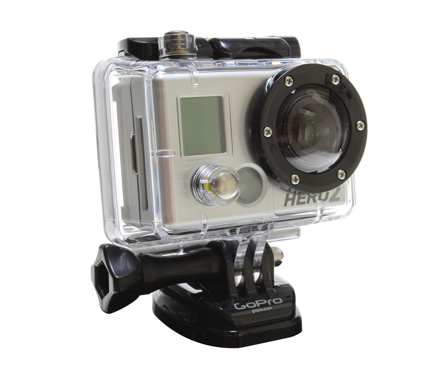 Surf GoPro's HD Surf HERO is the world's only 1080p HD on-board video and still photo surfing camera. Professional quality 1080p / 960p / 720p HD resolutions record at 30 and 60 frames per second (60 fps in 720p). Easily mounts to any surfboard in seconds. So lightweight, even top pros claim they don't notice the camera on their boards.Key Features of the Go Pro HD Hero2 Surf Edition Camera: 1 HD HERO Camera (5 megapixel) 1 Rechargeable 1100 mAh Lithium-Ion Battery 1 Waterproof Quick-Release Housing (197'/60 m) 1 3M™ Adhesive Mounting Base 1 FCS™ Plug-Compatible Mount 1 Quick-Release Buckle 1 Leash 1 USB Cable 1 Component Video (HDTV) Cable 1 Composite Video + Audio Out Cable Warranty: One Year - $299.99