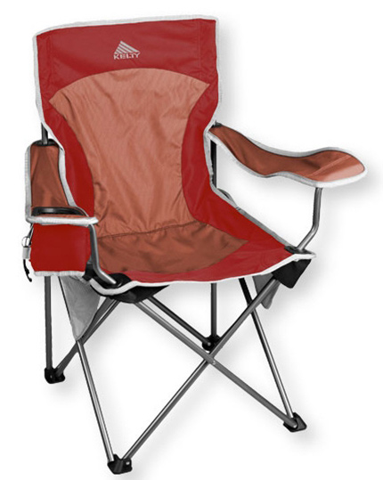 Camp and Hike This comfortable chair is easy to relax in and comes equipped with a unique adjustable beverage holder, a mesh pocket, reflective accents, and a transport sack. Built with a 16-millimeter steel frame for durability.Key Features of the Kelty Essential Camp Chair: PVC-free Adjustable arms One unique, adjustable beverage holder (holds 12 oz. can or one-liter water bottle) Durable steel frame Side mesh pockets Seat-back pocket Reflective accents Deluxe carry sack with stash pocket Kelty bottle opener included Weight: 8.5 lb / 3.9 kg Weight Capacity: 225 lb / 105 kg Seat Width: 23.5 in / 60 cm Seat Depth: 18 in / 46 cm Seat Height: 16.25 in / 41 cm Chair Back Height: 34 in / 86 cm Frame Diameter: 16 mm Frame Material: Steel Body Fabric: 600D polyester mini-ripstop - $37.95