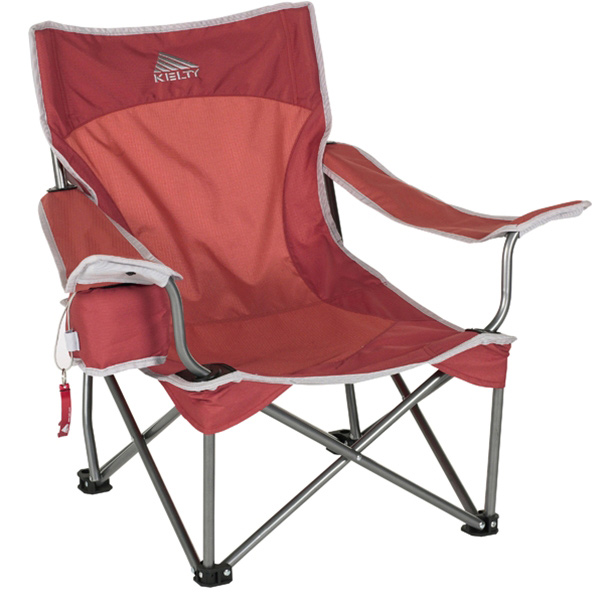 Camp and Hike Sit back and lay low at your next summer festival with this new low-set chair. Perfect for the beach or the park you'll quickly settle-in, relax and maybe have a little siesta in our new Lowdown Chair.Key Features of the Kelty Lowdown Camp Chair: PVC-free Durable Steel Frame Kelty Bottle Opener Included Adjustable Arms One unique, adjustable beverage holders (holds 12 oz. can or 1L bottle) Deluxe carry sack with stash pocket Weight: 8.5 lb / 3.9 kg Weight Capacity: 225 lb / 102 kg Seat Width: 20 in / 51 cm Seat Depth: 21 in / 53 cm Seat Height: 11 in / 28 cm Chair Back Height: 27 in / 69 cm Frame Diameter: 13 mm Frame Material: Steel Body Fabric: 600D Polyester Mini-Ripstop - $31.95