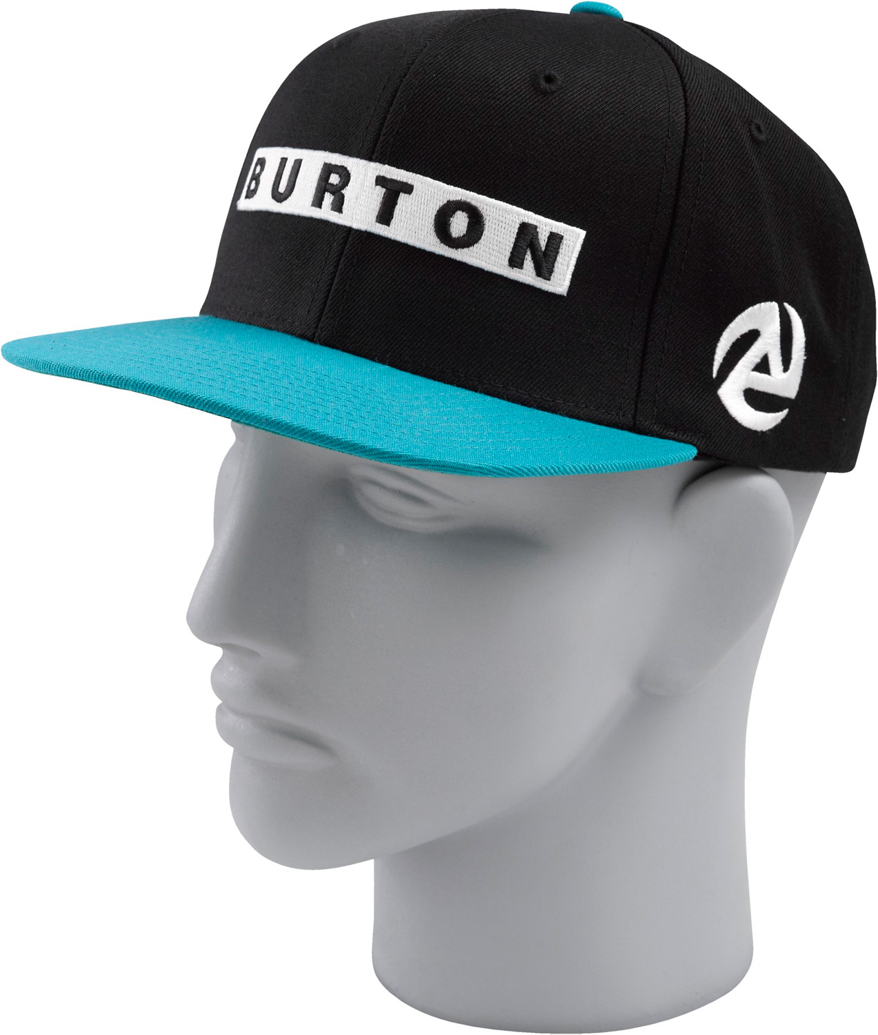 Snowboard Key Features of the Burton Barred Cap: 100% Cotton [Stout White Pinstripe Colorway] 80% Acrylic, 20% Wool [Royals, Bitters, and True Black Colorways] Snap Back Bar Embroidery Flat Visor - $15.95