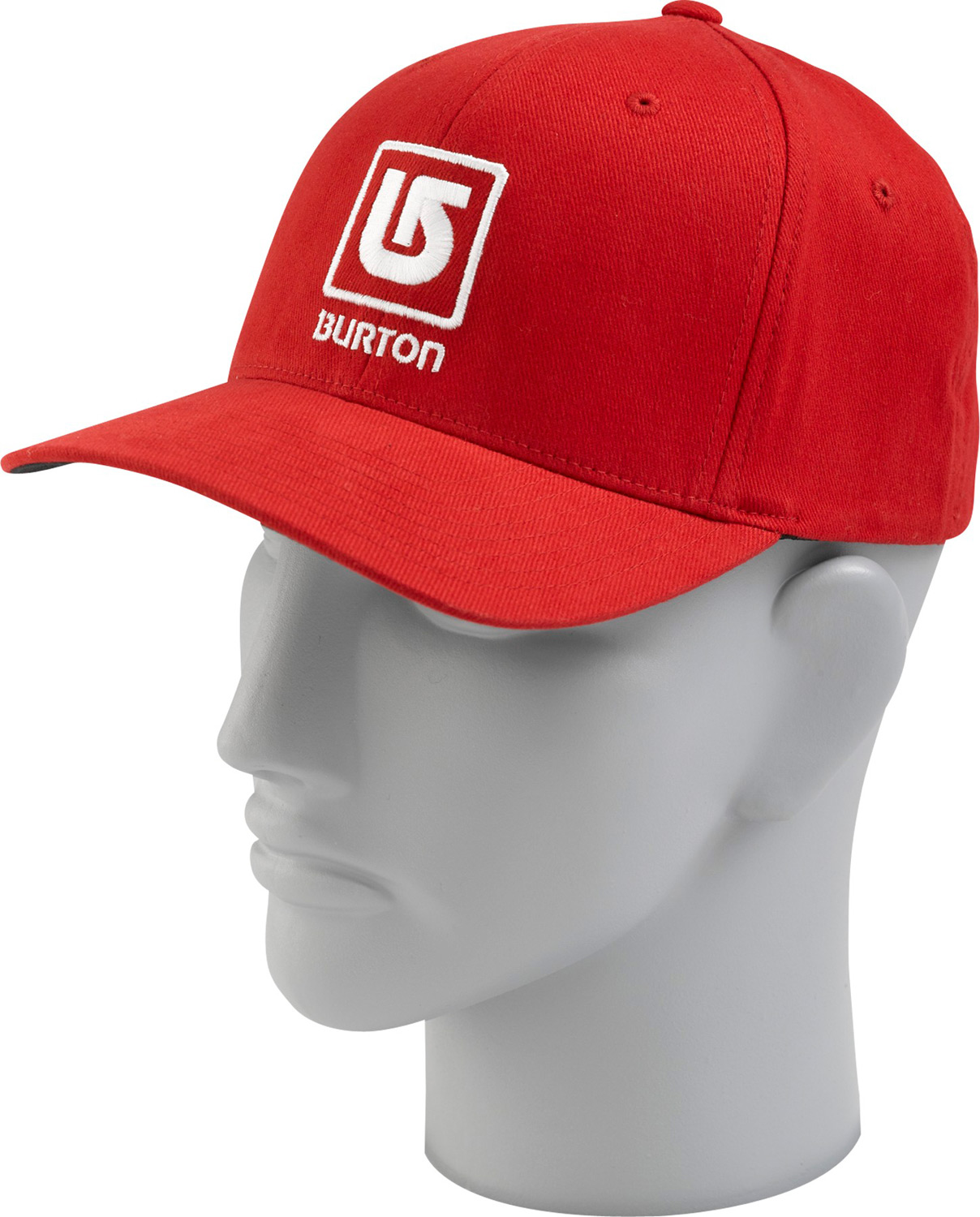 Snowboard Key Features of the Burton Frathouse Cap: 98% Cotton/2% Spandex Fabric Filled Process Logo Embroidery Applique X Fit Curved Visor - $13.95