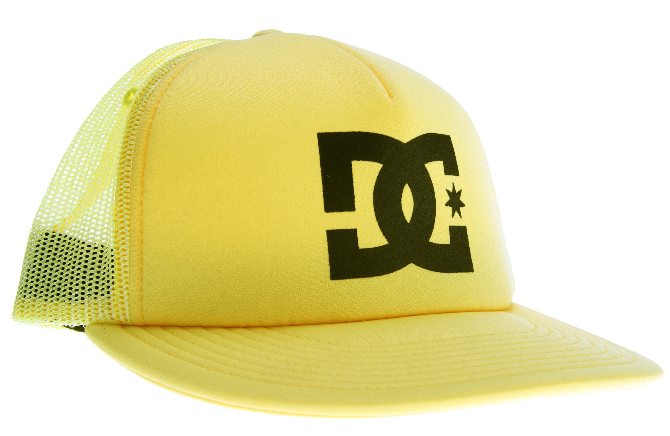 Key Features of the DC Dweeter Cap: Polyester foam five panel trucker hat Logo screenprint on at front center 100% polyester - $12.95