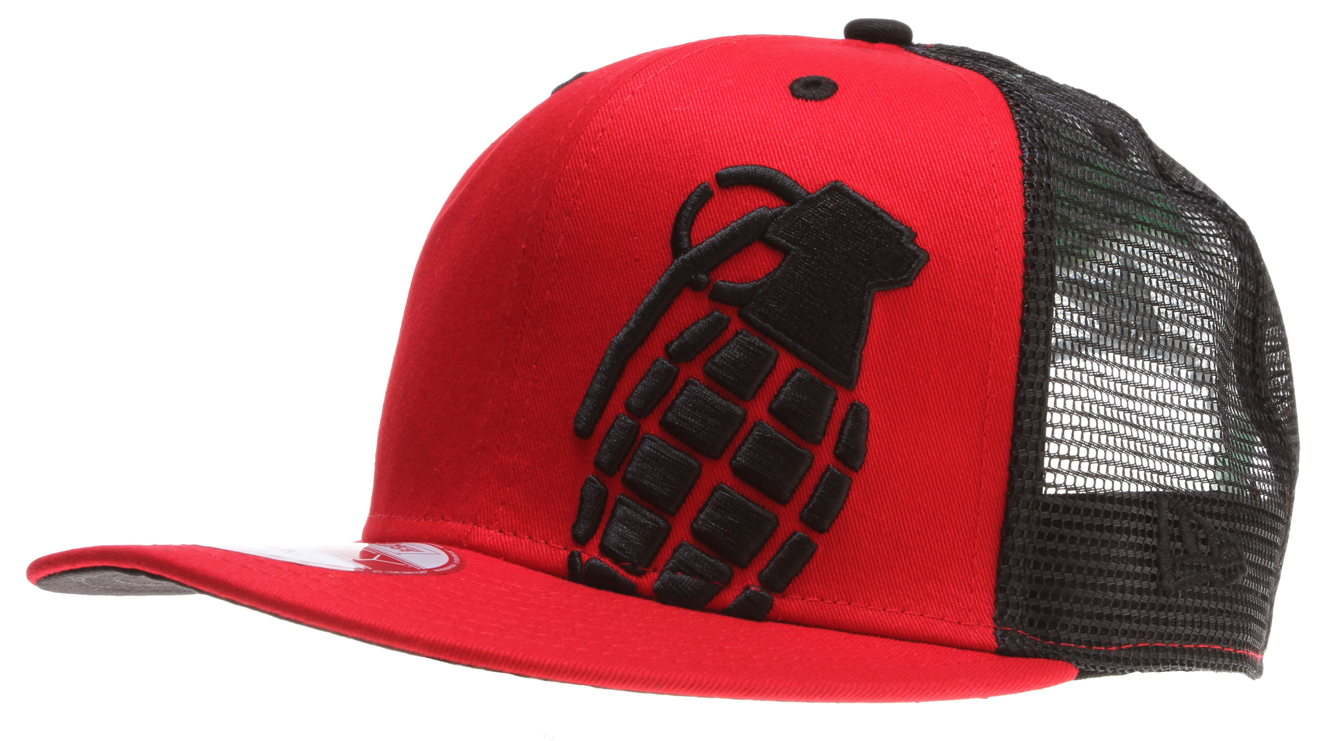 Key Features of the Grenade Halfer Mesh Cap: 100% cotton New Era Mesh Snap Back Embroidered logo - $24.95