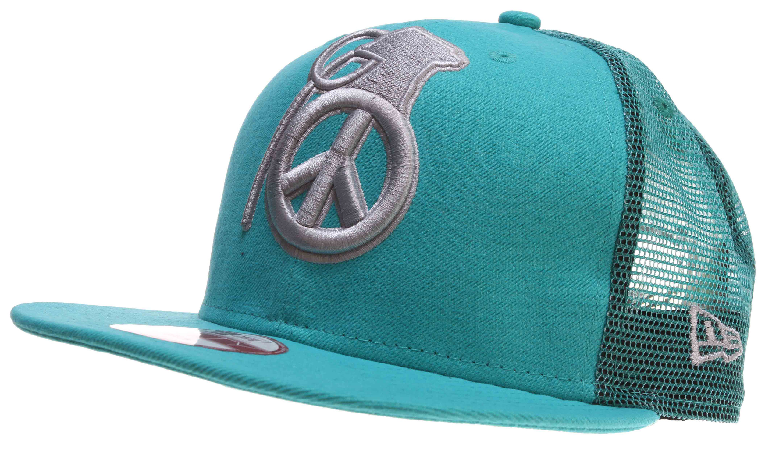 Key Features of the Grenade Peace Bomb Mesh Cap: 100% cotton New Era Mesh Snap Back Embroidered logo - $16.95