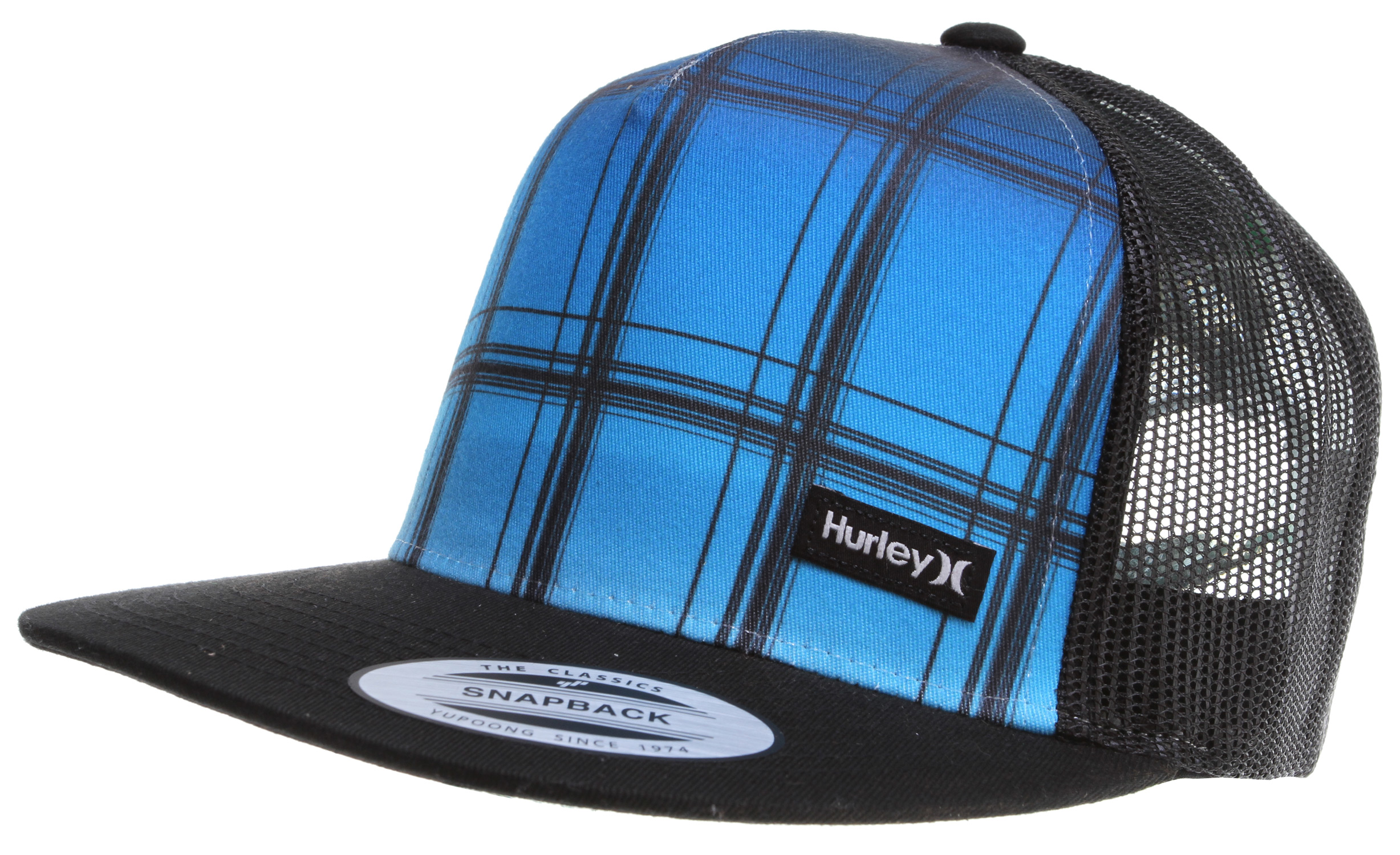 Surf Key Features of the Hurley Trunks Trucker Cap: 5 Panel Snapback Trucker 60% Polyester/40% Nylon Sublimated crown with mesh back. - $14.95