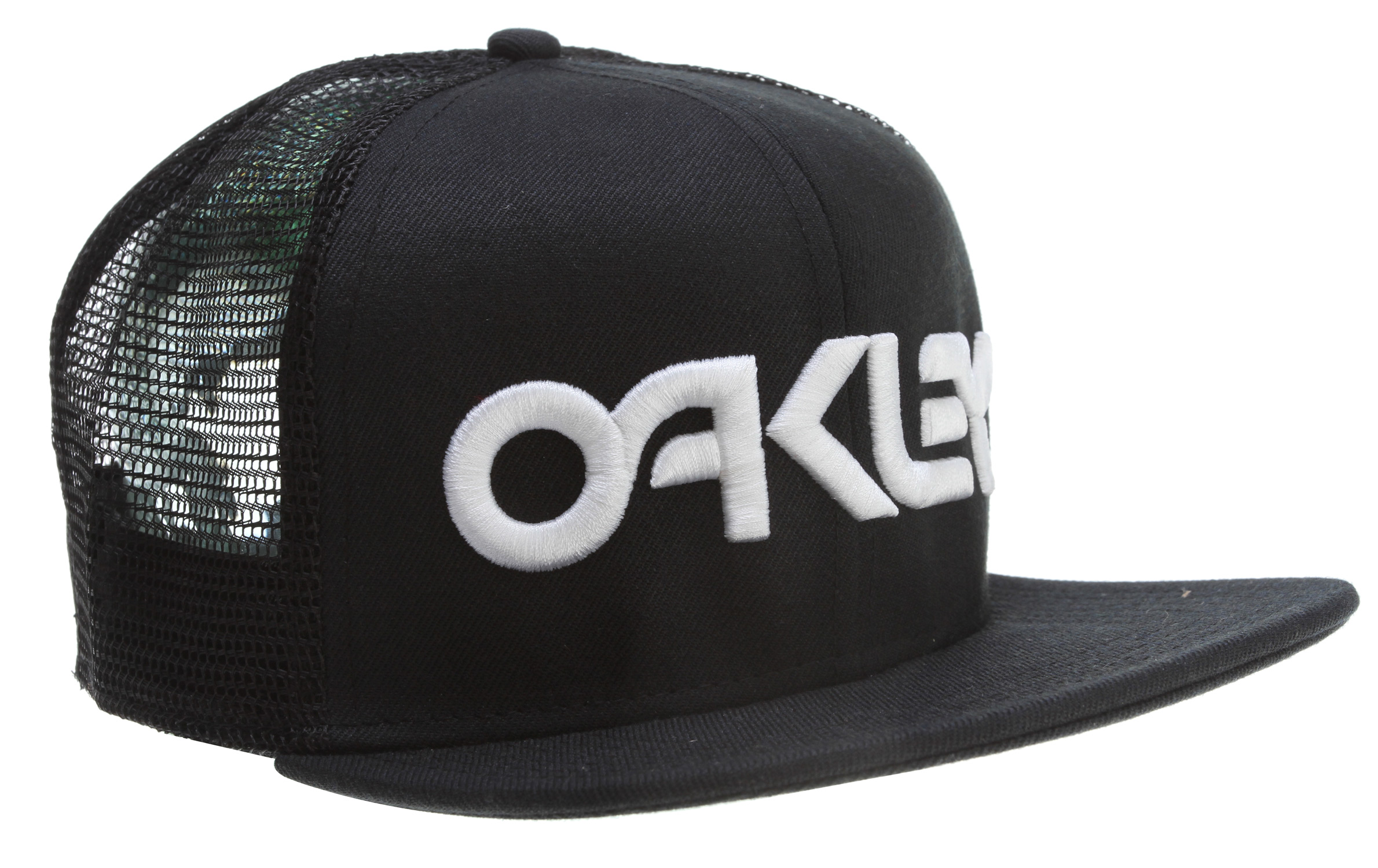 Key Features of the Oakley Factory Trucker Cap: Adjustable fit Subtly contoured brim Structured polyester mesh 3D logo embroidery on crown - $25.00