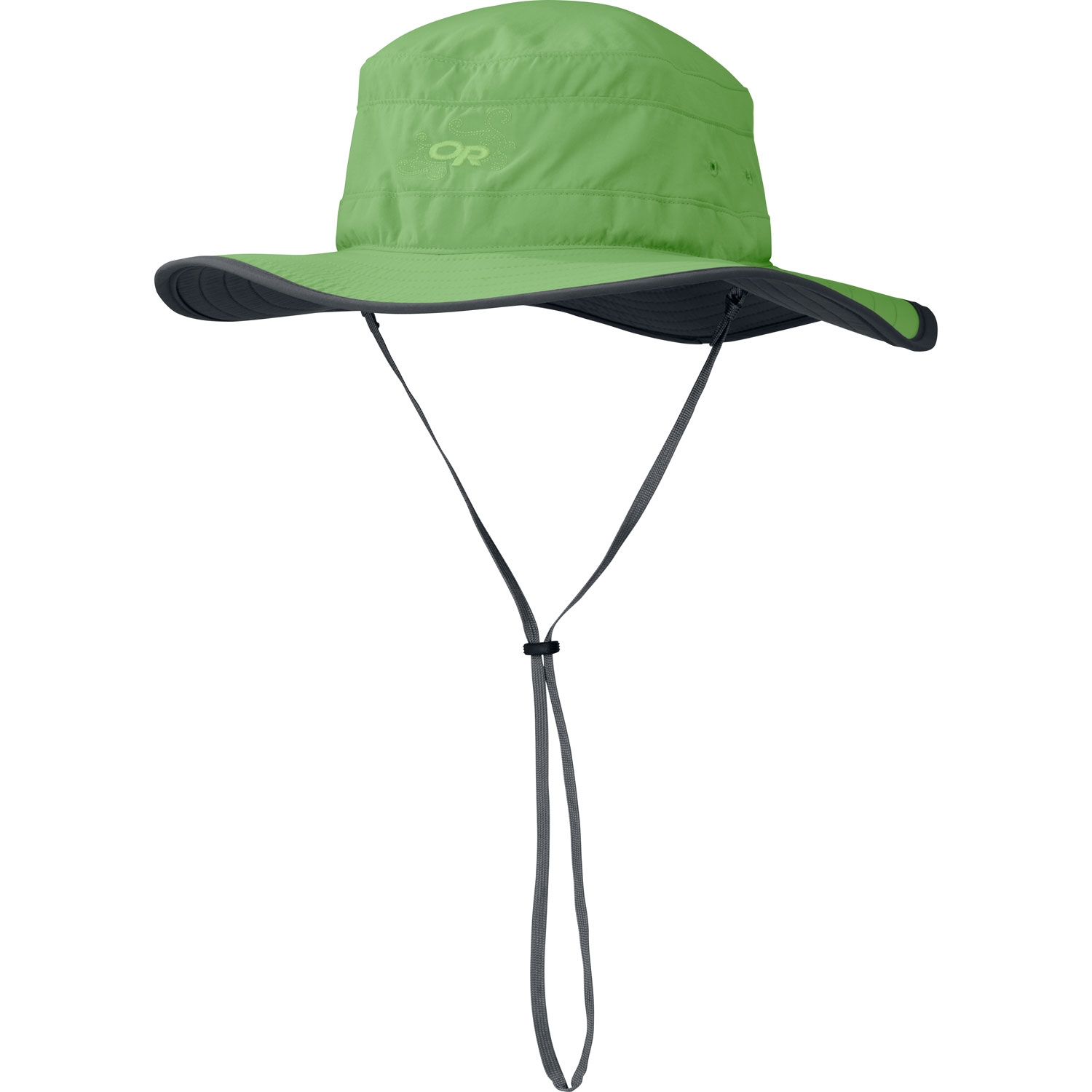 "Key Features of the Outdoor Research Solar Roller Hat: 100% Supplex® nylon Lightweight sun protection SolarShield™ construction UPF 30 Foam-stiffened brim floats TransAction™ headband Drawcord adjustment Removable chin cord Brim: 2 3/4"" - $23.95"