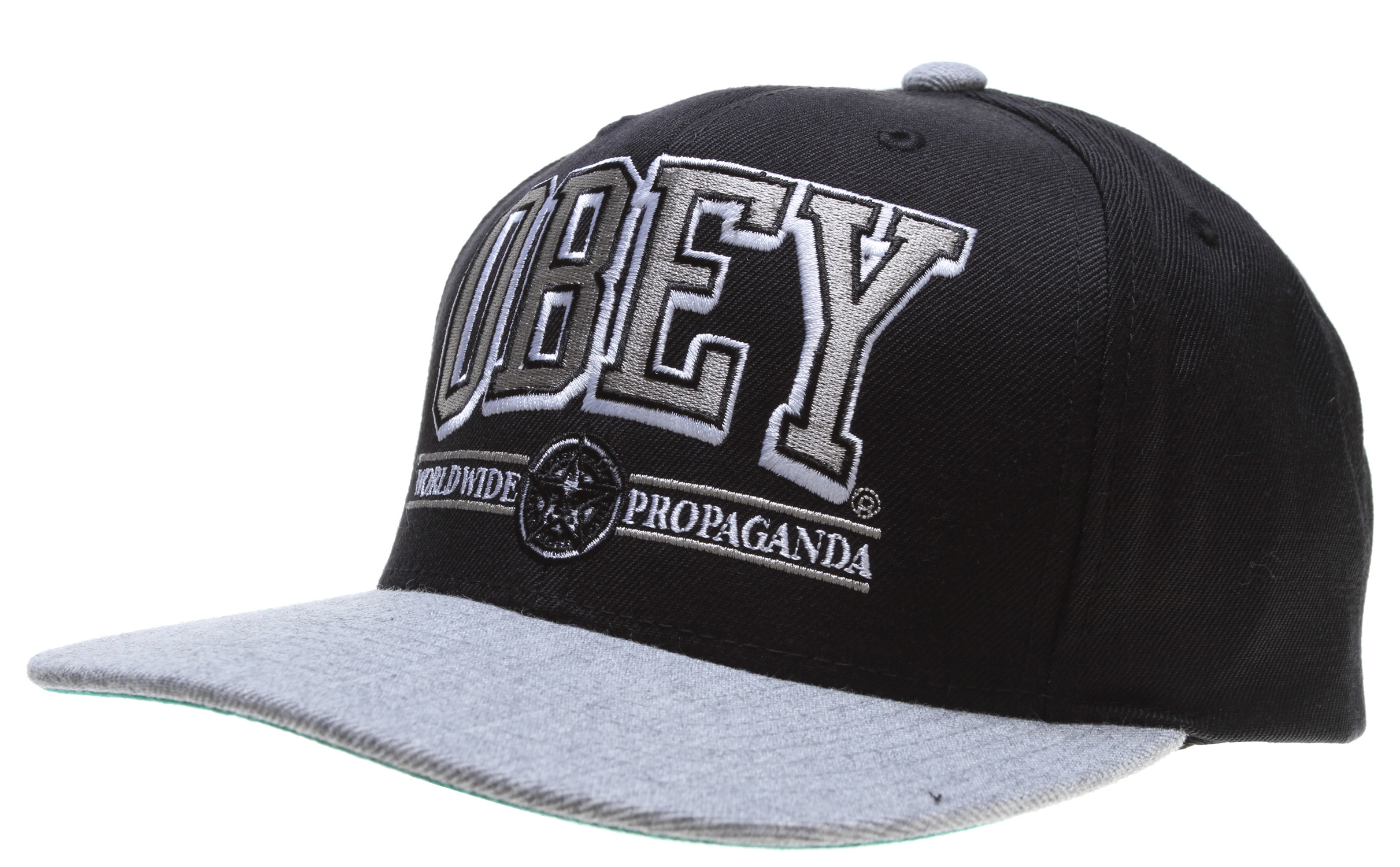 Key Features of the Obey Athletics Snapback Cap: Twill snapback with applique and embroidery 80% acrylic/20% wool - $16.95