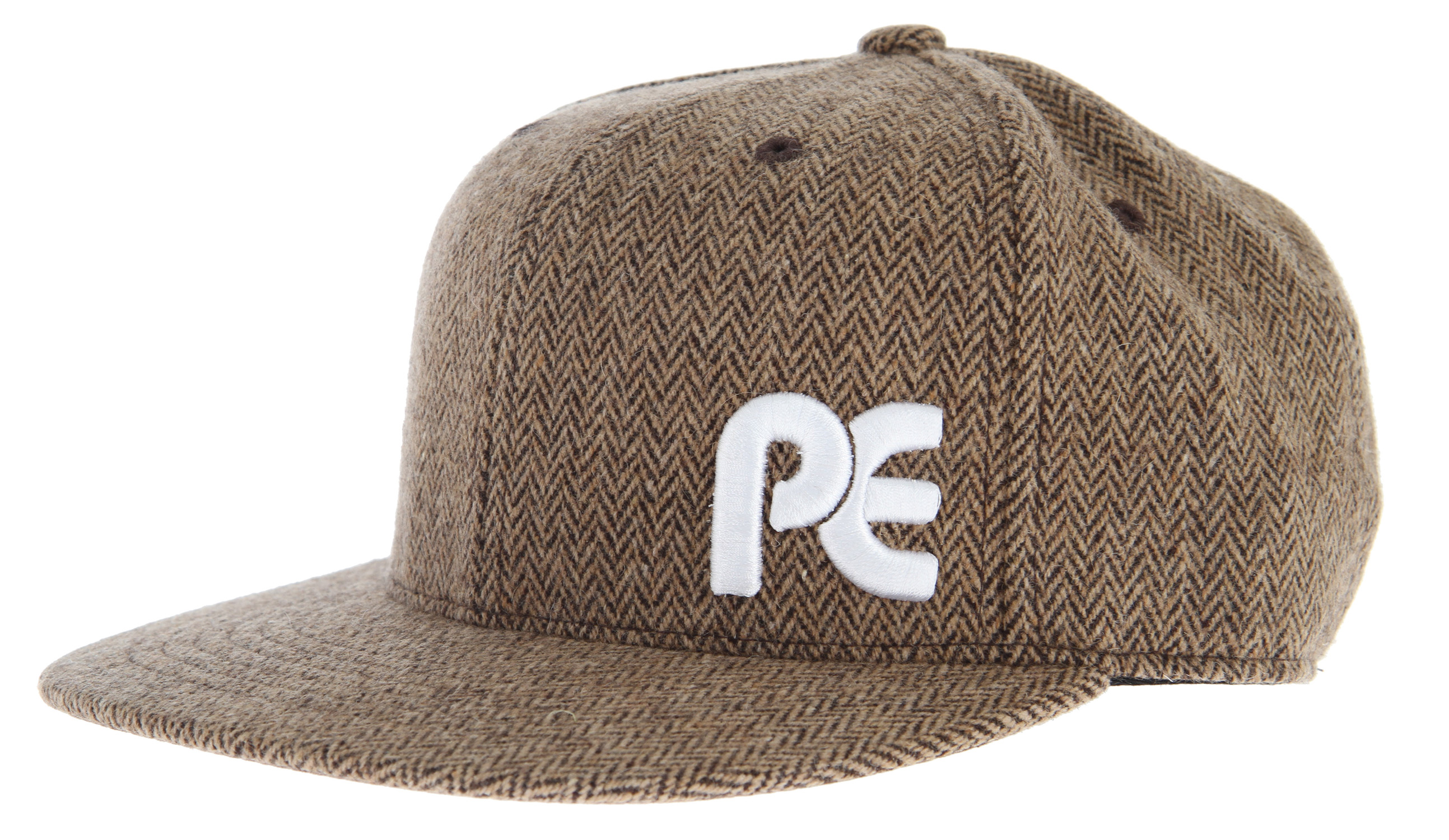 Key Features of the Planet Earth Dugout Cap: Custom wool blend 6 panel fitted hat 3D embroidered front logo - $17.95