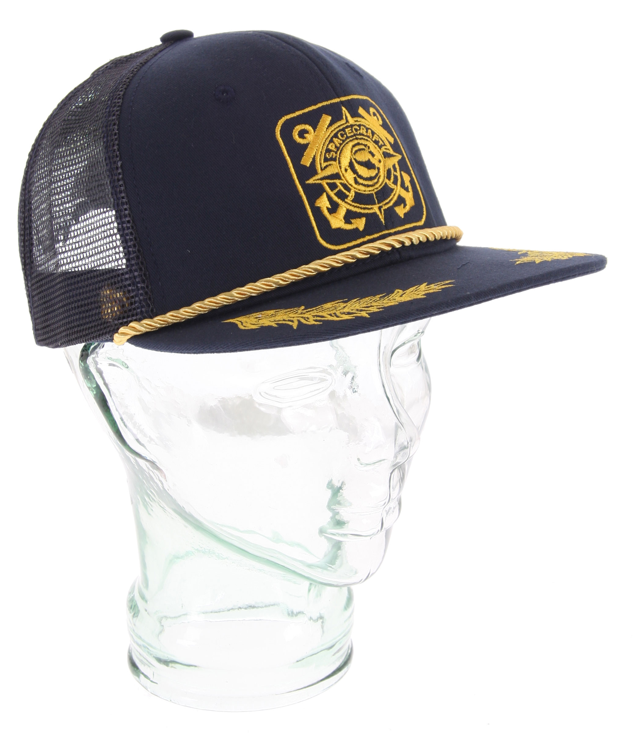 Key Features of the Spacecraft Anchor Trucker Cap: Twill Cap with Patch Embroidery on Front Puffy Leaf Embroidery on Bill Mesh Back Snap Back Closure & Metal Cat Rivet Classic - $17.95