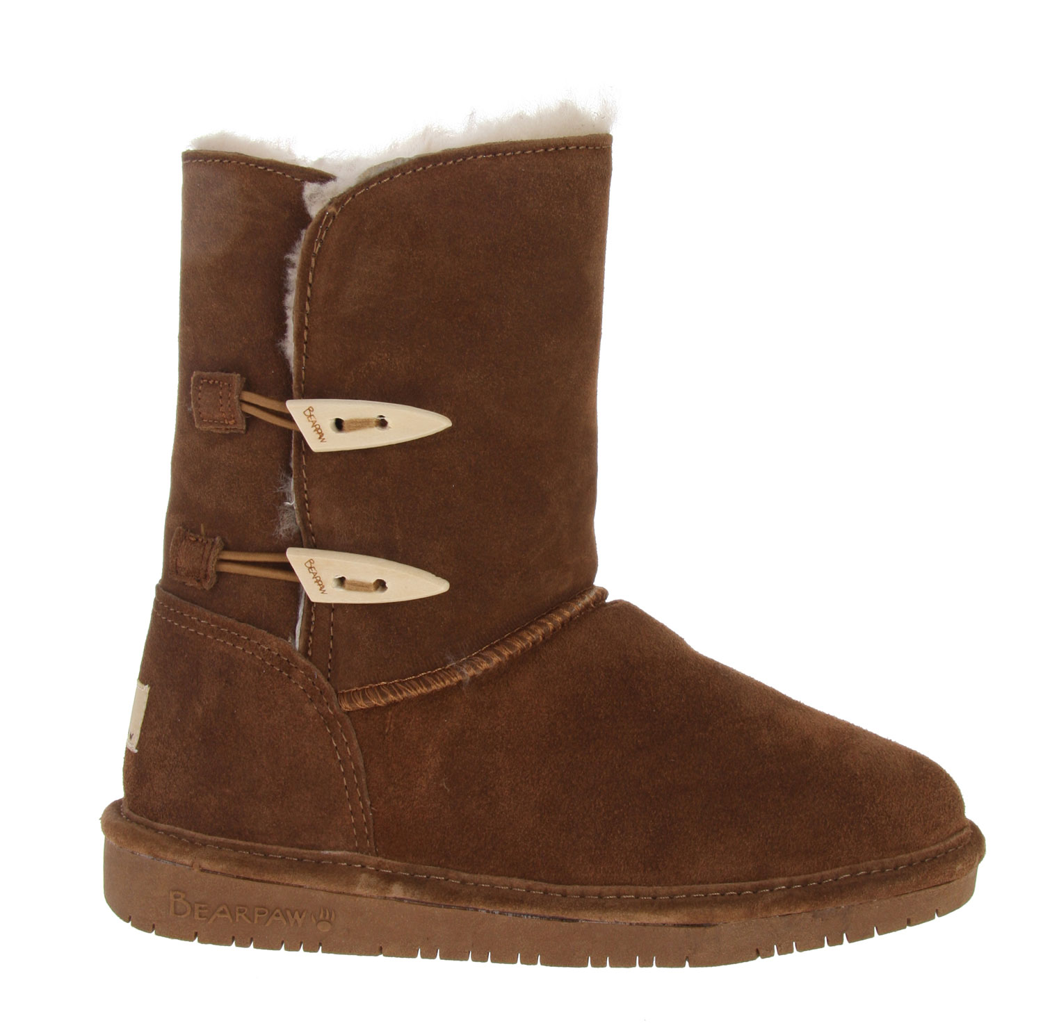 Fitness The Bearpaw Abigail 8 Inch Street Boots are the trendiest looking women''s boots that will never go out of style or lose their inherent sheen of class and taste. With a suede composure and a sleek-looking exterior design, these boots are difficult to overlook. In addition to their appeal, these boots have a luxurious sheepskin footbed and a wool-sheepskin combination of lining in order to ensure the absolute comfort and warmth of the wearer at all times. One touch of the smooth material of these boots will convince any potential buyer to become an actual one.Key Features of The Bearpaw Abigail Boots: Suede Sheepskin/Wool lining Sheepskin Footbed TPR Outsole - $74.99