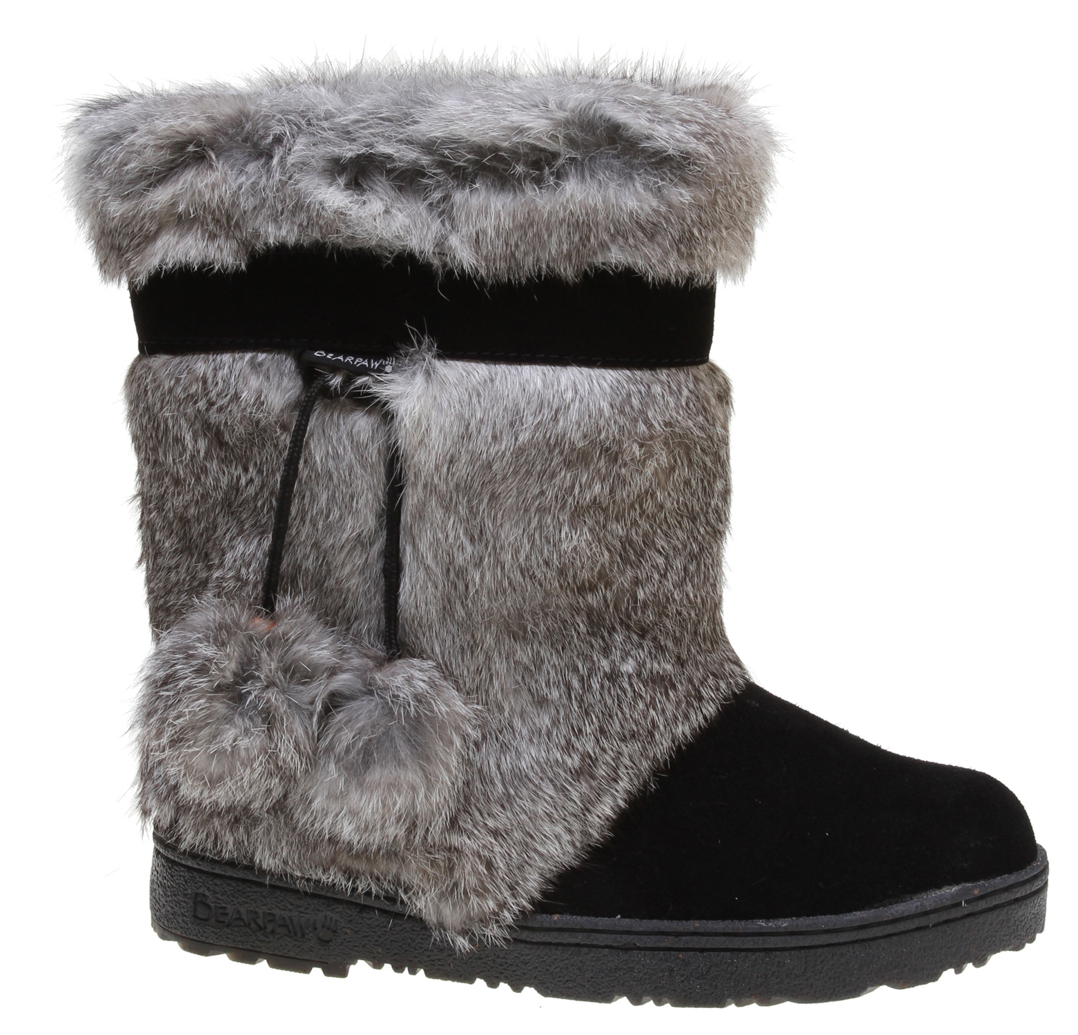 The Tama II is sure to give you that extra flare, turn heads and make a statement when you wear these fluffy comforts out on the town. Look no further for groundbreaking comfort, warmth, and a fashion statement. Key Features of the Bearpaw Tama II Casual Boots: Cow suede vamp Rabbit fur Branded trim and teis with pom poms 100% superwash merino wool lining Sheepskin footbed Metal heel logo - $129.98