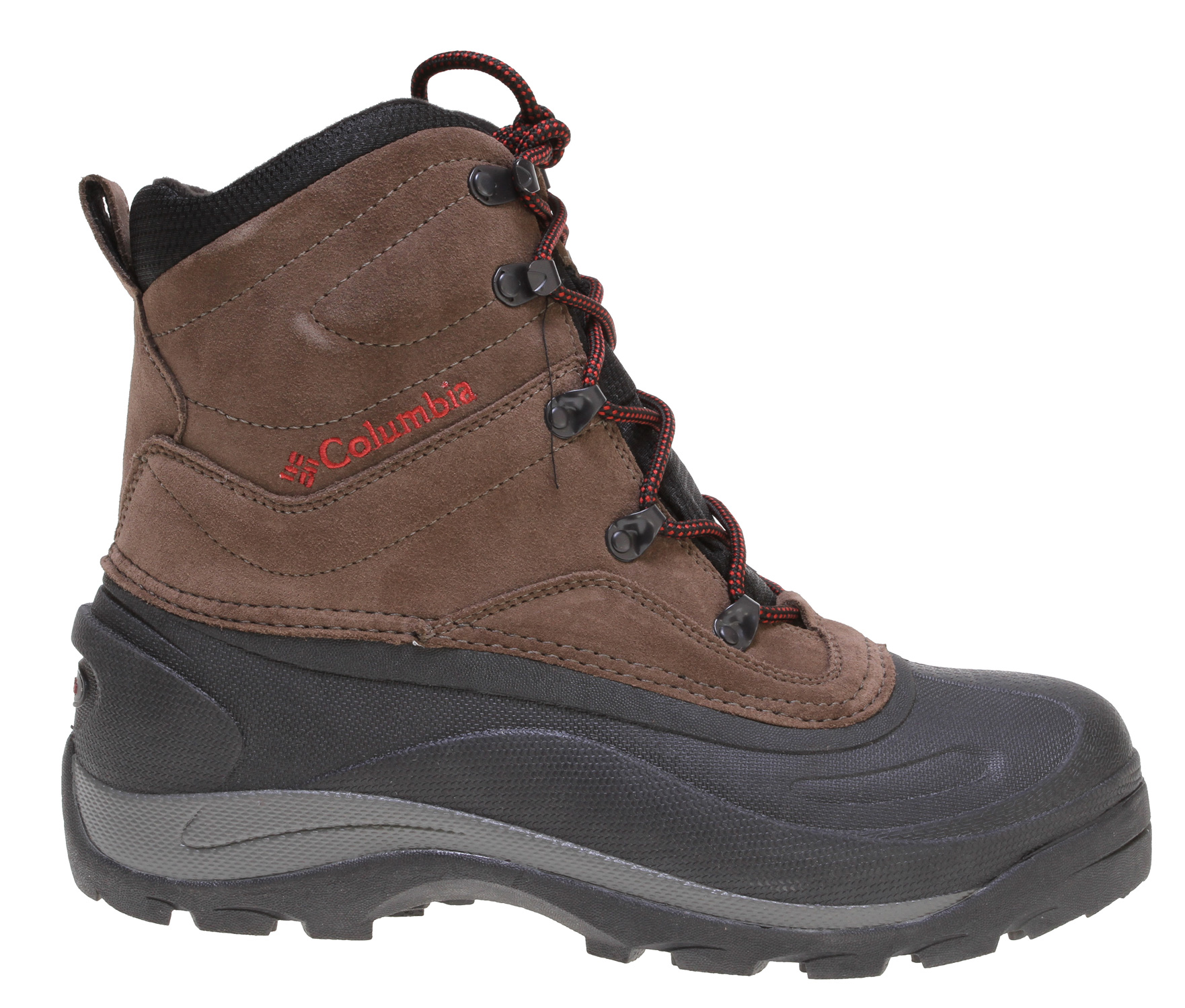 A value-packed water-resistant winter boot designed for the weekend warrior.Key Features of the Columbia Cascadian Summit 2 Boots: Upper: Water-resistant split suede leather. Seam-sealed construction. Insulation: 200g Thermolite. Rated -25F/-32C Footbed: Removable EVA footbed with nylex cover or cushioning and comfort Insole: ThermaShield frost plug that provides heat reflection and prevents cold from penetrating from the ground Midsole: Internal EVA provides lightweight cushioning Shell/Outsole: One-piece injection molded thermal rubber shell provides lightweight durable protection with lug tread pattern that provides good traction on a variety of surfaces. - $75.95