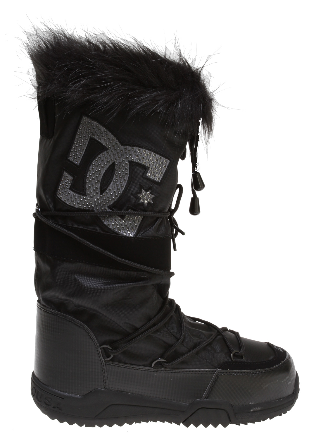 "Key Features of the DC Chalet 2.0 LE Boots Black/Anthracite: Soft Resilient Action Leather Textile Upper Water Resistant Materials Foam-Padded Tongue and Collar DC's Performance Wrap Cup Sole Abrasion-Resistant Sticky Rubber Outsole with DC's Trademarked ""Pill"" Pattern - $54.95"