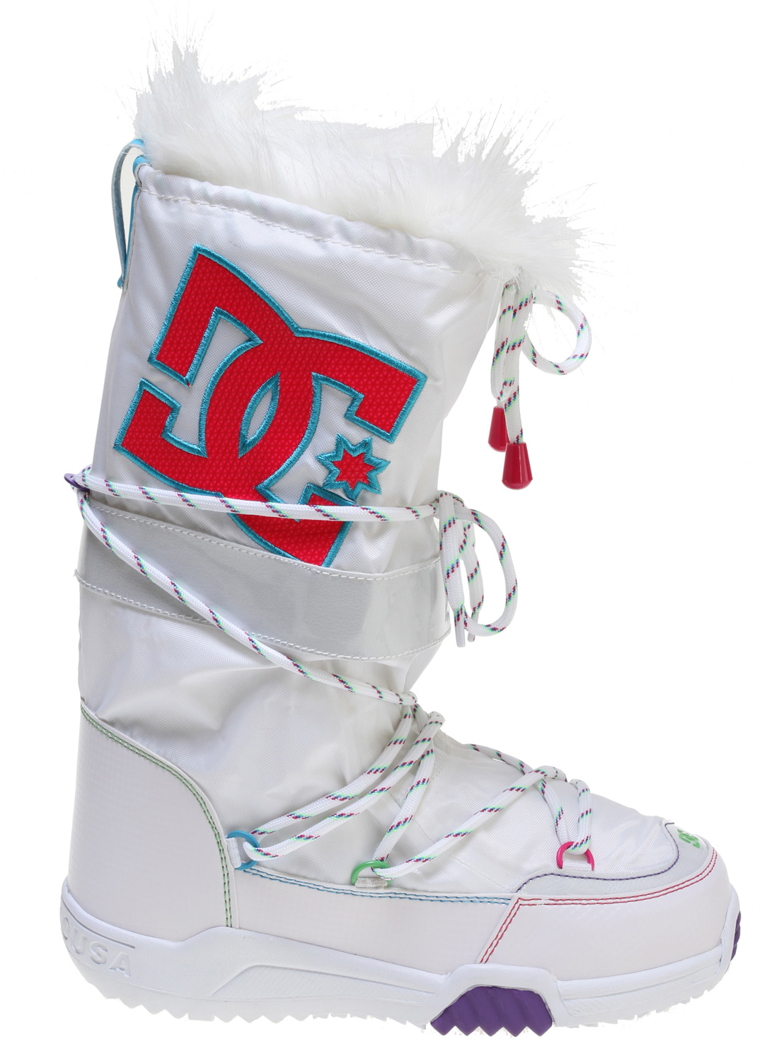"Key Features of the DC Chalet 2.0 Boots White/Pink: Textile Upper Water Resistant Materials Foam-Padded Tongue and Collar DC's Performance Wrap Cup Sole Abrasion-Resistant Sticky Rubber Outsole with DC's Trademarked ""Pill"" Pattern - $51.95"