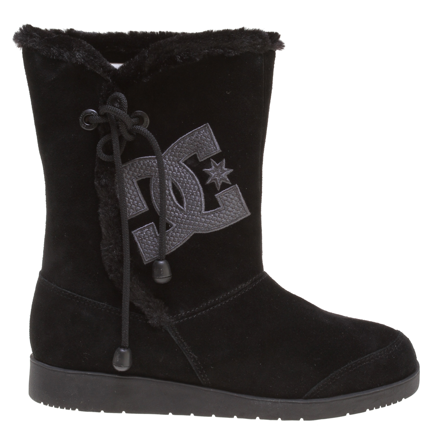 Key Features of the DC Gondola Mid Boots Black/Silver: Textile Upper Vulcanized Construction for great board feel and sole flex Latex Insole for comfort Abrasion-Resistant Sticky Rubber Outsole Die cut eva insole die cut eva midsole - $44.95