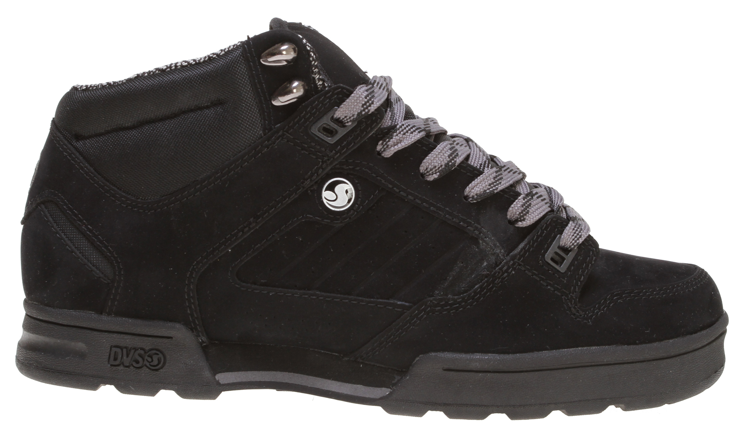 Key Features of the DVS Militia Boot Casual Boots: Water resistant upper Taped seams Weather protective tongue gussets Moisture wicking inner lining Metal DVS fast hooks Cold Grip Technology outsole - $57.95