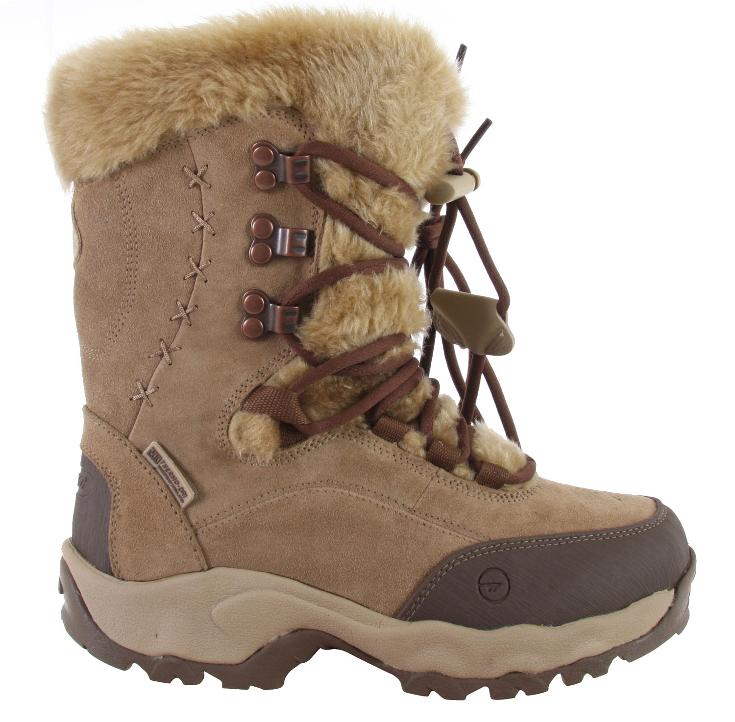 Key Features of the Hitec St Moritz 200 Casual Boots: Faux Fur Lined Collar Fleeced Lined Upper Thermo-Dri@ Waterproof And Insulation System Womens Specific Last For Superior Fit And Performance Lightweight Compression Molded Eva Midsole Durable Carbon Rubber Outsole Removable Eva Sockliner - $70.95