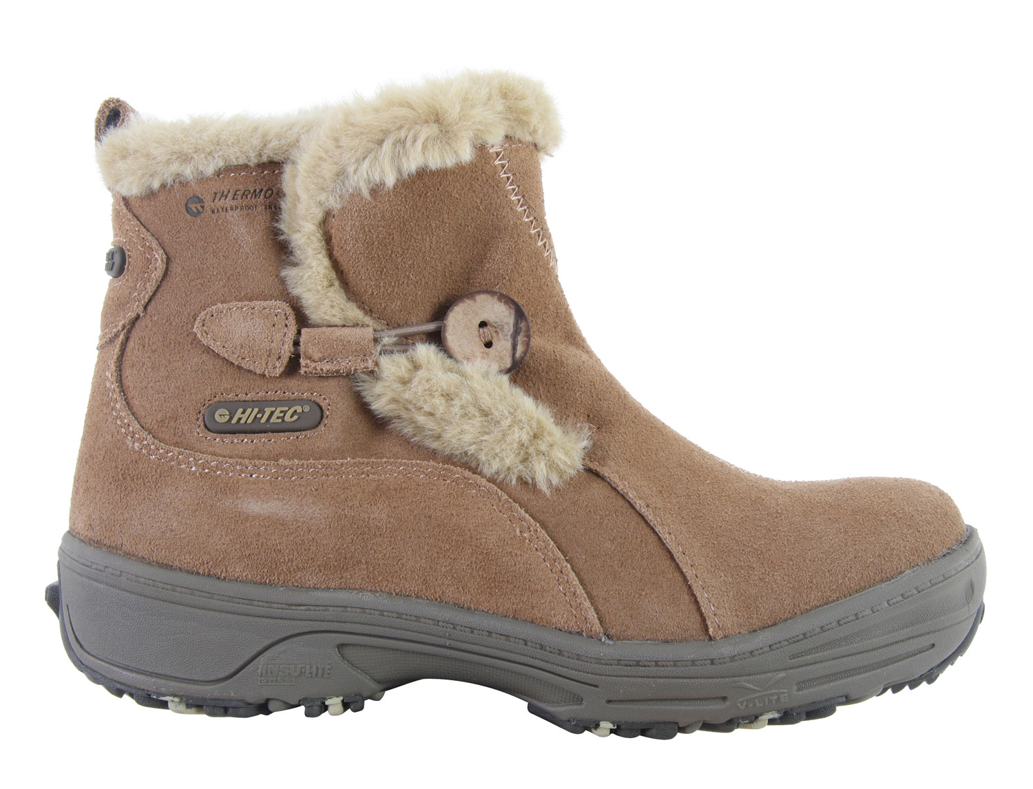 Be prepared when snow hits this winter with the Hitec V-Lite Snowflake Pull On 200 Casual Boots.  So durable, it can tough out in any weather, rain or snow.  Don't slip and fall when it's icy out because these boots' winter traction will prevent all that from happening.  Lined with faux fur, you'll feel extra warm and cozy.  These high quality suede and leather-made boots is the perfect gift to yourself this winter.  Don't miss out.Key Features of the Hitec V-Lite Snowflake Pull On 200 Casual Boots:  Wp Suede/Leather/Fabric Upper   Ion Mask Waterproof Tech   Thermo-Dri@ Waterproof And Insulated Systems   Faux Fur Lining   V-Lite Design And Build   Insu-Lite Shell Tech.   Faux Fur Lining   Tpu Support Shank   Pull On Construction   Stretch, Pull On Boot Design/Construction   Comfort Tec Contoured Sock Liner   Winter Siping Outsole Pads For Winter Traction   Tpu Support Shank   Winter Siping Outsole Pads For Winter Traction - $65.95
