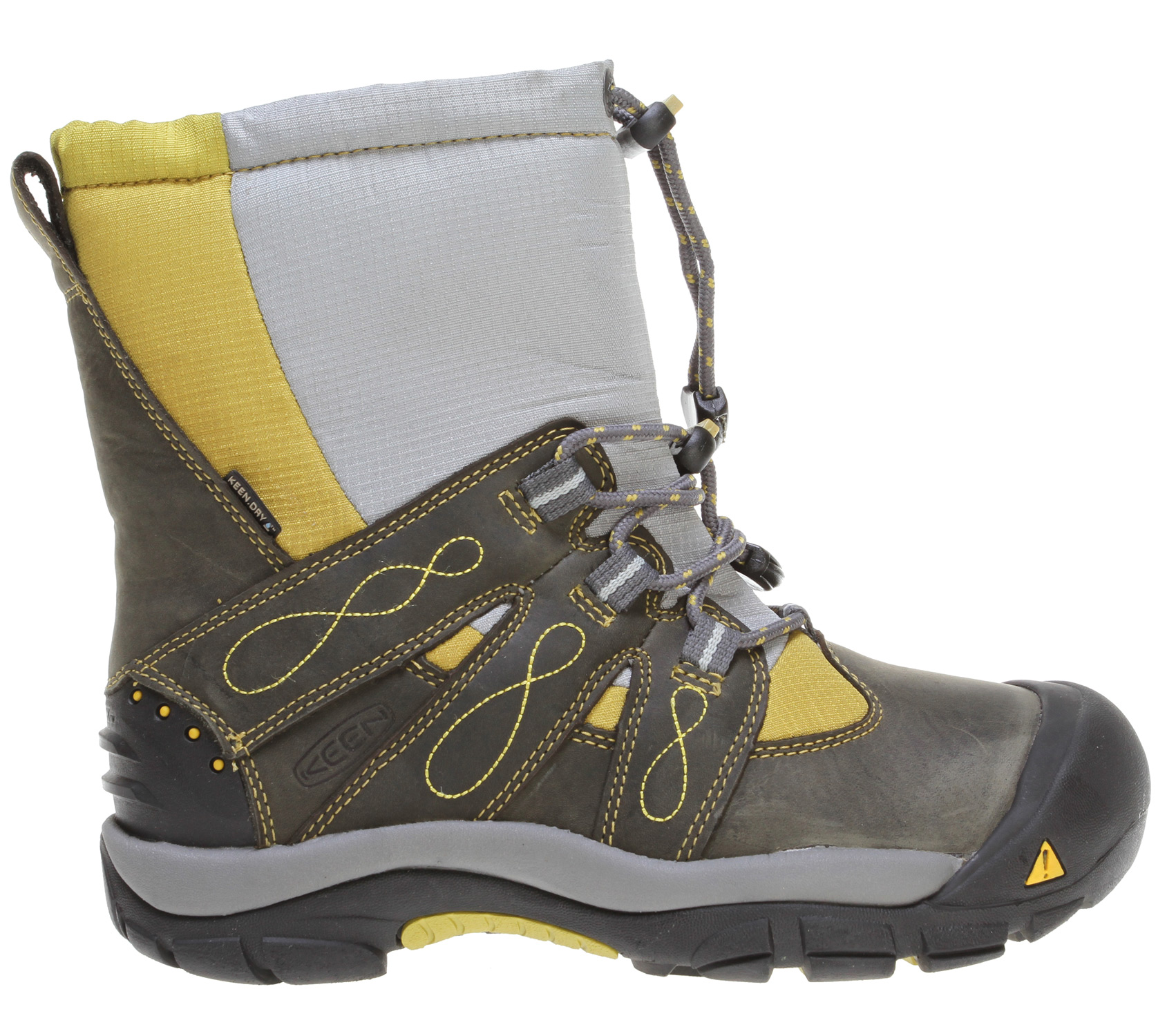 Camp and Hike When the weather outside is frightful, let the Brixen Boot delight your toes with 400g of KEEN.WARM insulation, a cozy wool felt lining and a thermal heat shield footbed. Snow, sleet or freezing rain, the KEEN.DRY waterproof membrane keeps the boot dry, so your feet stay comfortable. Let it snow!Key Features of the Keen Brixen Boots: Fit Tip: We find this style runs about a 1/2 size small. Lining: Wool Felt Upper: Abrasion resistant and breathable textile mesh upper Rubber: Dual climate rubber Activities: Hiking, Snow Type: Boots: Cold - insulated, Wet - waterproof 400g KEEN.Warm upper insulation Abrasion resistant and breathable textile mesh upper Compression molded EVA midsole Dual climate and ice traction rubber outsole KEEN.DRY waterproof breathable membrane Patented toe protection Shellback heel support Thermal heat shield footbed TPU stability shank Waterproof nubuck upper Wool felt lining KEEN.DRY: A proprietary waterproof, breathable membrane that lets vapor out without letting water in. KEEN.WARM: A lightweight insulation that keeps you warm. Who knew charcoal bamboo could create something that keeps your feet warm? But it makes KEEN.WARM a lightweight, anti microbial insulation that provides warmth where you need it most. KEEN.DCR: The KEEN Dual Climate Rubber outsole hardens in cold weather to bite into packed snow - all in the name of traction. THERMAL HEAT SHIELD FOOTBED: On the outside, wooly softness; in the middle, support cushioning; and inside, a thermal foil barrier to harness radiant heat. Keeps the cold out and the heat in. - $95.95