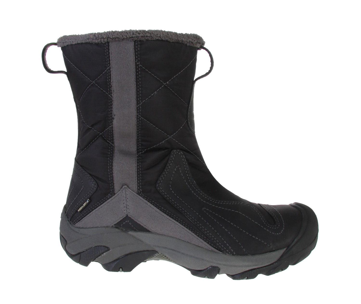 If you want to look stylish and be ultra warm at the same time, the answer is this. The Keen Betty Boots offers the ultimate snow boots, perfect for a winter season. Durable and long lasting, this high quality boot offers great insulation assuring warm feet all season long. Its good heel support structure and thermal heat footbed makes this the ideal pair of boots to own. Watch out ladies, this is a winter must have item.Key Features of the Keen Betty Boots: 200g KEEN.Warm insulation KEEN.DRY waterproof breathable membrane S3 Heel support structure Side zipper for easy on and off Thermal heat shield footbed. Women's specific design - $83.95